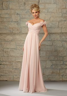 Luxe Chiffon Bridesmaid Dress with Off the Shoulder Cap Sleeves aec049bbf5f8