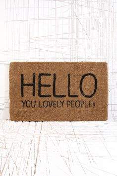 Lovely People Doormat at Urban Outfitters