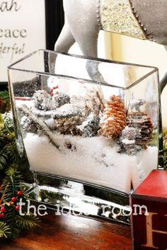 winter scene in glass block