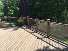 Image result for perspex deck fencing Garden Gates, Garden Bridge, Garden Sitting Areas, Decking Fence, Outdoor Structures, Cabin, Fencing, Glass, Outdoor Decor