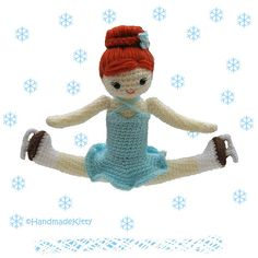 Figure Skating Doll  ♥ by HandmadeKitty=^_^=, via Flickr  I remember when I did Russian split jumps like this pretty pretty dollie. Can still do them, just not quite as high in the air as I used to :D))))))))...God bless your day with fun! God is so creative in our hearts and minds, especially figure skaters always interpreting something new, from God to their audience <3 Amen <3