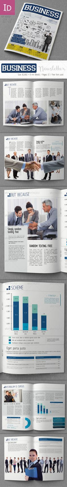 Corporate Newsletter Indesign Template - Newsletters Print - business newsletter