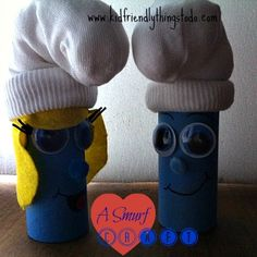 A Smurf Craft! Smurfs 2 was such a fun movie! These are simple to do, and make cute little dolls for the kiddos!