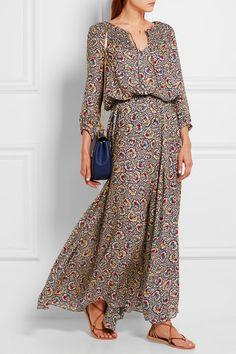 The Great | Carousel floral-print silk-crepe maxi dress | NET-A-PORTER.COM