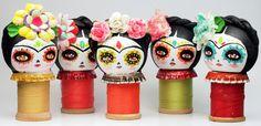 ✢ Viva ❡ R I D A | Dia De Los Muertos Kokeshi Dolls! by Danita