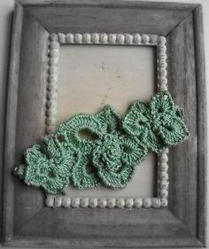 Crochet bracelet Flower fantasy