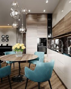 50 inspiring kitchen cabinet colors and ideas that will blow you away 3 ~ Best Dream Home Kitchen Room Design, Modern Kitchen Design, Dining Room Design, Home Decor Kitchen, Interior Design Living Room, Home Kitchens, Kitchen Dining, Apartment Interior, Apartment Design