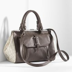 Simply Vera Vera Wang Lisa Convertible Framed Satchel...I have this in black...LOVE!!