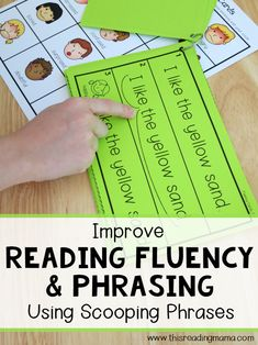 Reading Fluency and Phrasing {Using Scooping Phrases} - This Reading Mama