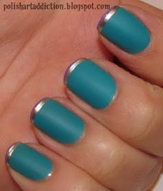 french tip with a twist
