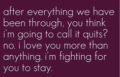 Not giving up on you - #relationship