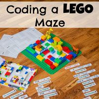 Coding a LEGO Maze via @researchparent