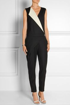 Karl Lagerfeld | Dahlia stretch-wool twill jumpsuit | NET-A-PORTER.COM