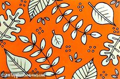 Day 10 of #ICAD2016 Index-card-a-day #art #pattern and probably my favourite so far! Taken from an original repeating pattern I showed here a while back and adapted. . #artoftheday #artstagram #illustration #drawing #doodling #doodles #doodlegram #handdrawn #leaves #nature #sketch #ink #uniposca #orange #zoeford #LoveTFT
