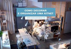 Como decorar e organizar uma kitnet - Casinha Arrumada