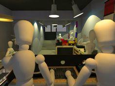 Analog Kültür Vinyl Store_ View from DJ bench