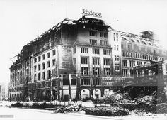 Berlin Ruins of the KaDeWe department store, 1943 Berlin 1945, West Berlin, Germany Europe, Berlin Germany, Berlin Photos, The Second City, The Beautiful Country, Central Europe, European History