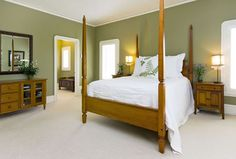 Green Bedroom Walls Design Ideas, Pictures, Remodel and Decor