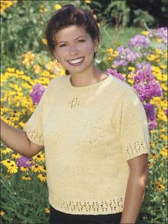 Free Short-sleeved Sweater Knitting Patterns - Summer Lace Tee