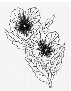 viola-flower-redwork-embroidery