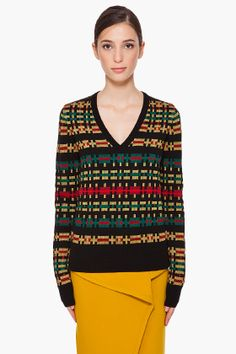 PROENZA SCHOULER //    V-Neck Knit Sweater    12288F124003