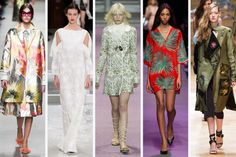 From left to right: Rochas, Chalayan, Giambattista Valli, Paul
