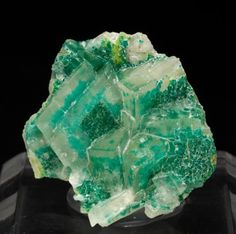 Calcite with Dioptase from Namibia
