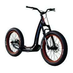 The only version FAT scooter with 4 seasons use. Comfortable with its natural suspensions, large tires and surprising terrain adhesion. Bmx Scooter, Kick Scooter, Electric Bicycle, Electric Scooter, Scooters, Go Karts, E Mountain Bike, Leather Bicycle, Scooter Custom