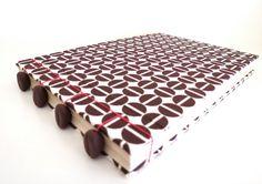 RED Coffee Bean Notebook by CoffeeMonkeyPress