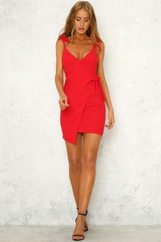 Make It Easy Dress Red