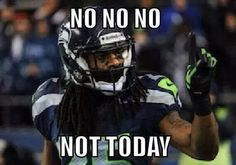 Seattle Seahawks corner Richard Sherman is no stranger to the spotlight off the field and has become recognized as one of the league's best corners on it. Seahawks Football, Marshawn Lynch Seahawks, Seahawks Memes, Seahawks Fans, Panthers Football, Seattle Mariners, Seattle Seahawks, Denver Broncos, Nfl Memes