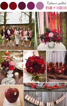 Deep Red & Purple Autumn Inspiration Board. Absolutely love these colors and ideas