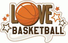 Silhouette Design Store - View Design #44459: love basketball title