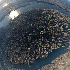 Aerial view of Downtown Manhattan, NYC, New York