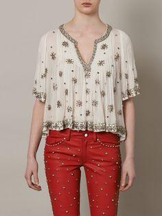 ISABEL MARANT Piper beaded blouse