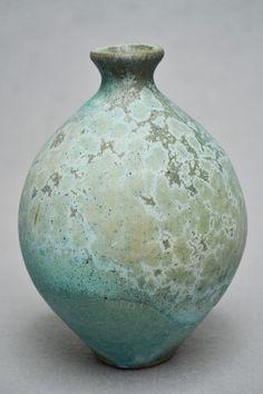 Turquoise Ceramic Vase by JacobGrantCeramics