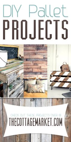DIY Pallet Projects - The Cottage Market #DIYPalletProjects, #PalletsProjects, #PalleyProjectHomeDecorDIY