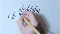 HOW TO write ITALIC lower case CALLIGRAPHY ALPHABET