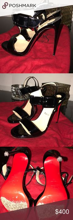 Beltega 120 Patent Black patent black CLs to add to your collection for a black heel that can go with pretty much anything! Worn multiple times hence the price. Comes with box, dust bag, and heel tips. Make an offer! Christian Louboutin Shoes Heels