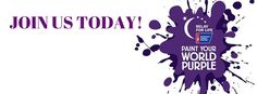 Join us today- RFL Facebook cover photo (Paint Your World Purple)
