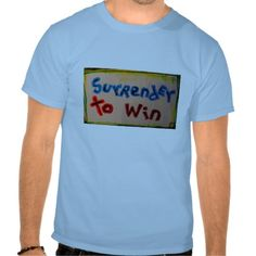 """surrender to win"" mens recovery tee shirts"