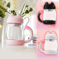 Kawaii Kitty Tea Cup Cat Tail Glass sold by Goromiau. Shop more products from Goromiau on Storenvy, the home of independent small businesses all over the world. Cute Water Bottles, Glass Bottles, Wine Bottles, Teacup Cats, Angora Cats, Kawaii Room, Kawaii Accessories, Cute Mugs, Kawaii Cute