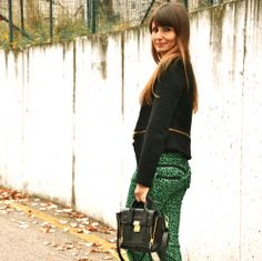 the #Italian #fashionblogger @Lucy Diegoli wears #lerock #pants #animalprint #leopardato #madeinitaly