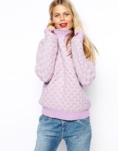 ASOS Chunky Knit Jumper In Pattern
