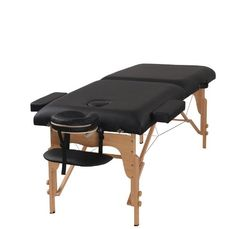 Heaven Massage 3' Black Portable Massage Table - PU Leather High Quality *** Special  product just for you. See it now! : Skin care
