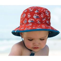 76066150cae Baby Boy Bucket Hat with Chinstrap
