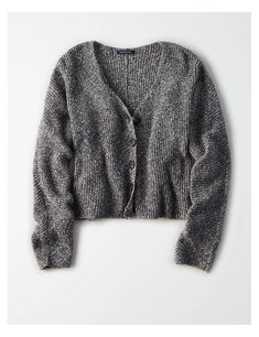 American Eagle Outfitters Mens & Womens Clothing Shoes & Accessories - Eagle Shirt - Ideas of Eagle Shirt #Eagle Shirt - AE Cropped Cardigan Sweater Charcoal | American Eagle Outfitters