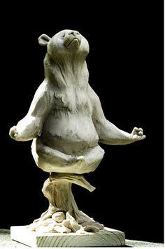 "Andrea Blasich: Little Panda for ""Totoro Forest Project"" Animal Sculptures, Sculpture Art, Illustrations, Illustration Art, Instalation Art, 3d Art, Little Panda, Modelos 3d, Disney Infinity"