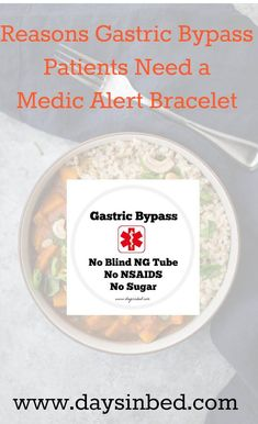 Gastric Byp Bariatric Surgery Sleeve Weight Loss Medic Alert Bracelet Health Why