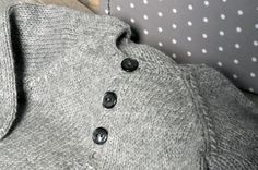Baby cashmere gray cardigan with white star by fallinlo on Etsy, €85.00